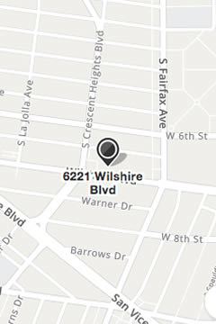 Map to Fusion Wellness PT Mid Wilshire Location